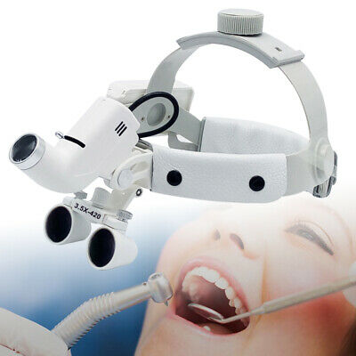 Dental Headband Magnifier Surgical Glasses 3.5x Binocular Loupes5w Led Headlamp