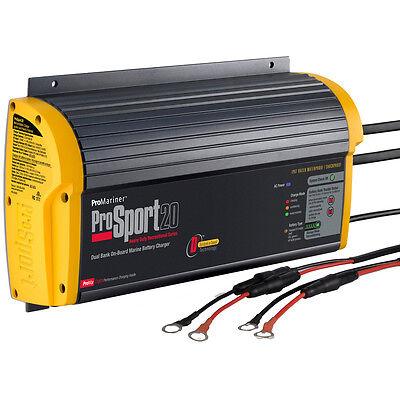 ProMariner ProSport 20 Amp 2 Bank Gen 3 HD On-Board 12V 24V Boat Battery Charger