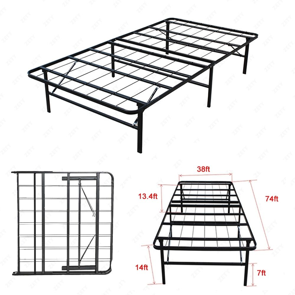 metal bed frame platform mattress foundation twin