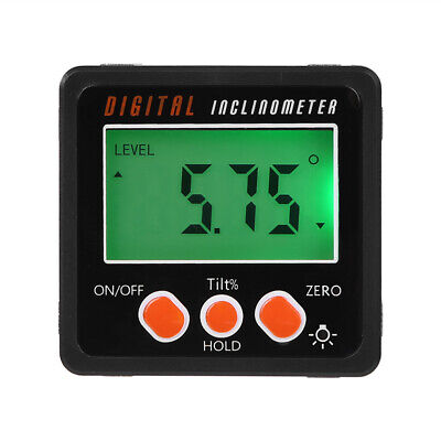 Digital Protractor Magnetic Angle Finder Bevel Level Inclinometer Measure Tools