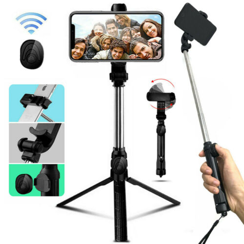 Extendable Selfie Stick Monopod Tripod + Bluetooth Remote Sh