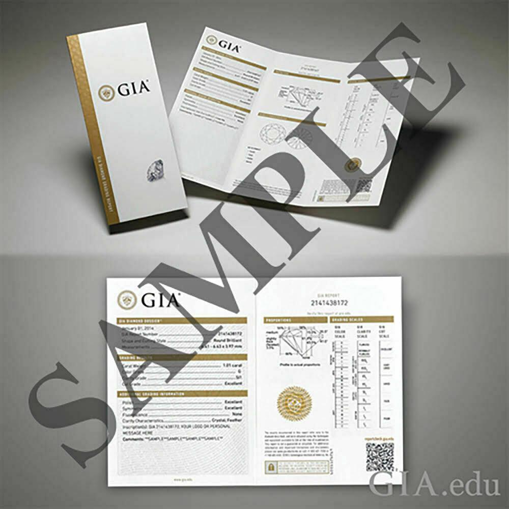 GIA Certified Diamond Engagement Ring 2.97 carat Cushion Shape 18K White Gold  3