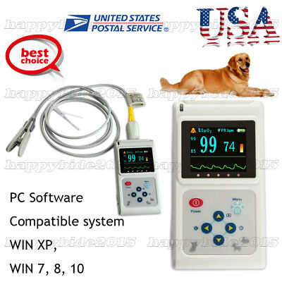 Cms60d-vet Veterinary Pulse Oximetertongue Spo2 Probepc Software Usb