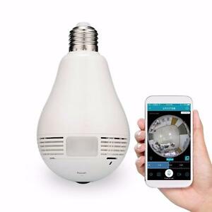 Wireless 360° VR bulb Security Camera, Easy installation, 1080P, 2 million pixels, Promotion Sale