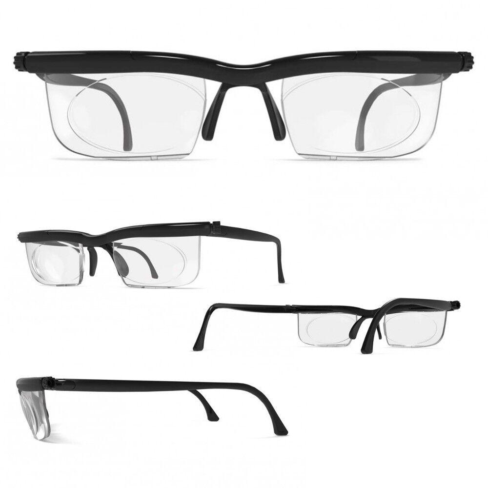 Adlens® Brille mit Dioptrien individuell einstellbar unisex Lesebrille