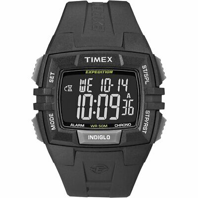 Timex Expedition Chronograph Digital Dial Black Resin Mens Watch T49900
