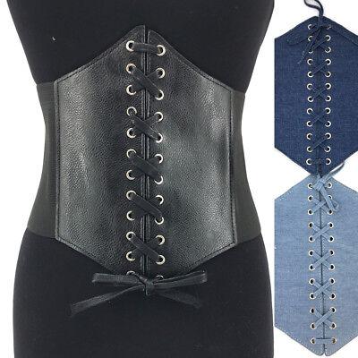Bohemian WOMEN Fsahion ELASTIC WIDE Corset Tie WAIST BELT Stretch Belt Plus Size Plus Size Stretch Corset