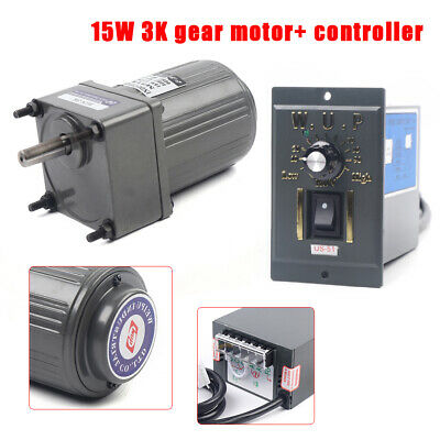 Electric Motor Variable Speed Controller 15w Ac110v Gear Motor 110 125rpm New