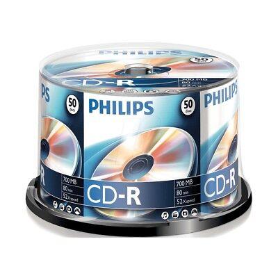 Philips CD-R Rohlinge 700 MB, 80 Min, 52x High Speed Aufnahme, 50er Spindel NEU online kaufen