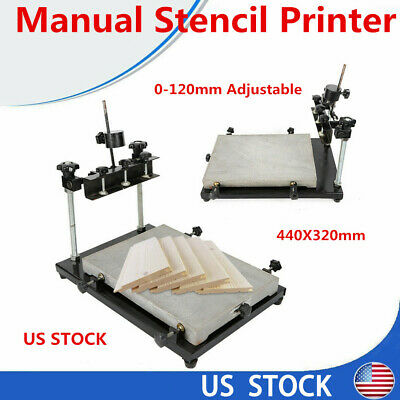 High Precision Manual Stencil Printer Smt Solder Paste Printing Machine440x320mm
