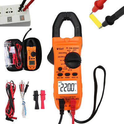 Portable Clamp Meter Tester Acdc Multimeter Test Ncv Resistance Temperature Us
