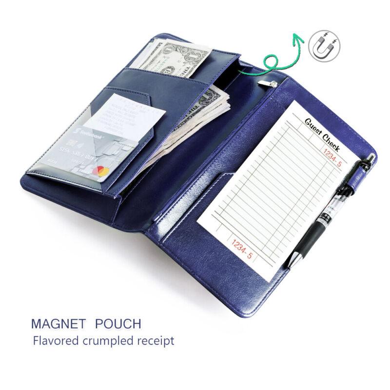 Magnetic Money Pocket Pen Holder Organizer Server Book for Waitress/Waiter