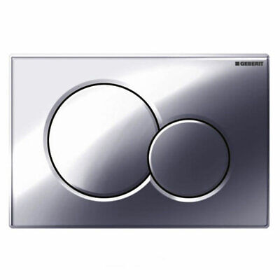 Geberit Sigma01 Gloss Chrome Dual Flush Plate for UP320 Cistern - 115.770.21.5