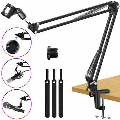 Microphone Stand, Adjustable Microphone Suspension Boom Scissor Arm Stand