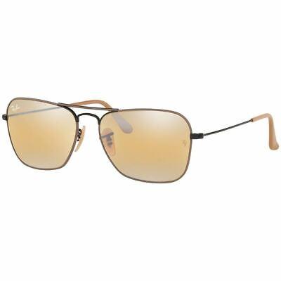 Authentic Ray Ban Caravan Sunglasses w/Yellow Gradient Mirrored RB3136 (Ray Ban Caravan Brown)