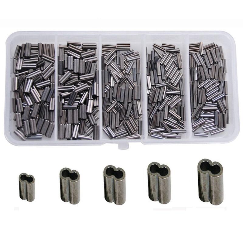 Mini Copper Double Barrel Crimps 100 count .6mm-2.2mm
