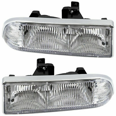FITS FOR 1998 - 2004 CHEVROLET S10 / S10 BLAZER HEADLIGHT RIGHT & LEFT