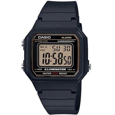 Casio W217H-9AV, Chronograph Watch, Black Resin Band, Alarm, Illuminator