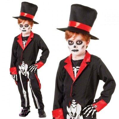 Kinder Herr Knochen Jangles Skelett Tag der Toten - Knochen Kind Kostüme
