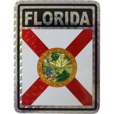 State Flag Bumper Sticker - State of Florida Flag Reflective Decal Bumper Sticker