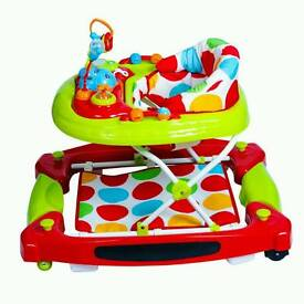 Red Kite Baby Go Round 2 in 1 Baby Walker and rocker combi.
