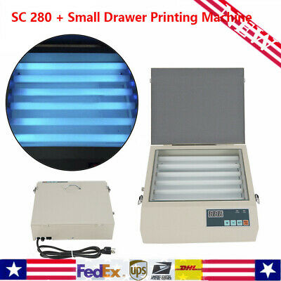 Uv Exposure Unit For Hot Foil Pad Printing Pcb W Drawer Screen Printer Sc-280