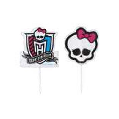 Wilton MONSTER HIGH BIRTHDAY PARTY THEME FUN PICKS PKG., OF 24 - Monster High Birthday Theme