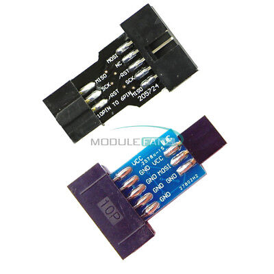 2510pcs Usbasp 10pin Convert To Standard 6 Pin Adapter For Atmel Stk500 Avrisp