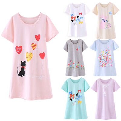 Kids Girls Cotton Lace Nightgown Long Sleeve Solid Sleepwear Top - Girls Nightgown Cotton