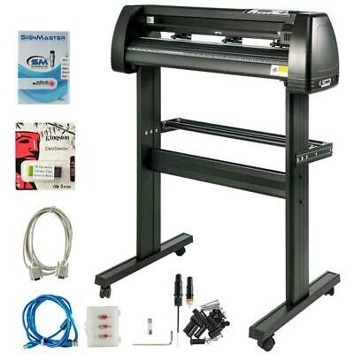 34 Inch Vinyl Cutter Plotter Machine With Stand Signmaster Software 720mm Paper