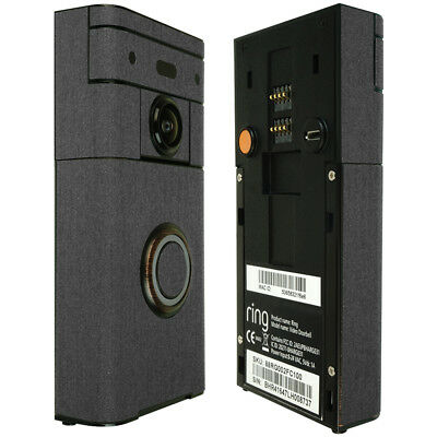 Skinomi TechSkin Brushed Steel & Screen Protector for Ring Video (Screen Doorbell)