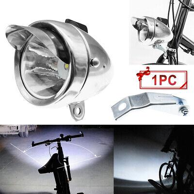 Classical Chrome Vintage Bicycle Bike LED Light Headlight Front Retro Head Lamp Bike Bicycle Head