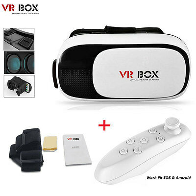 VR Headset Virtual Reality VR BOX Goggles 3D Glasses Google Cardboard Remote NEW