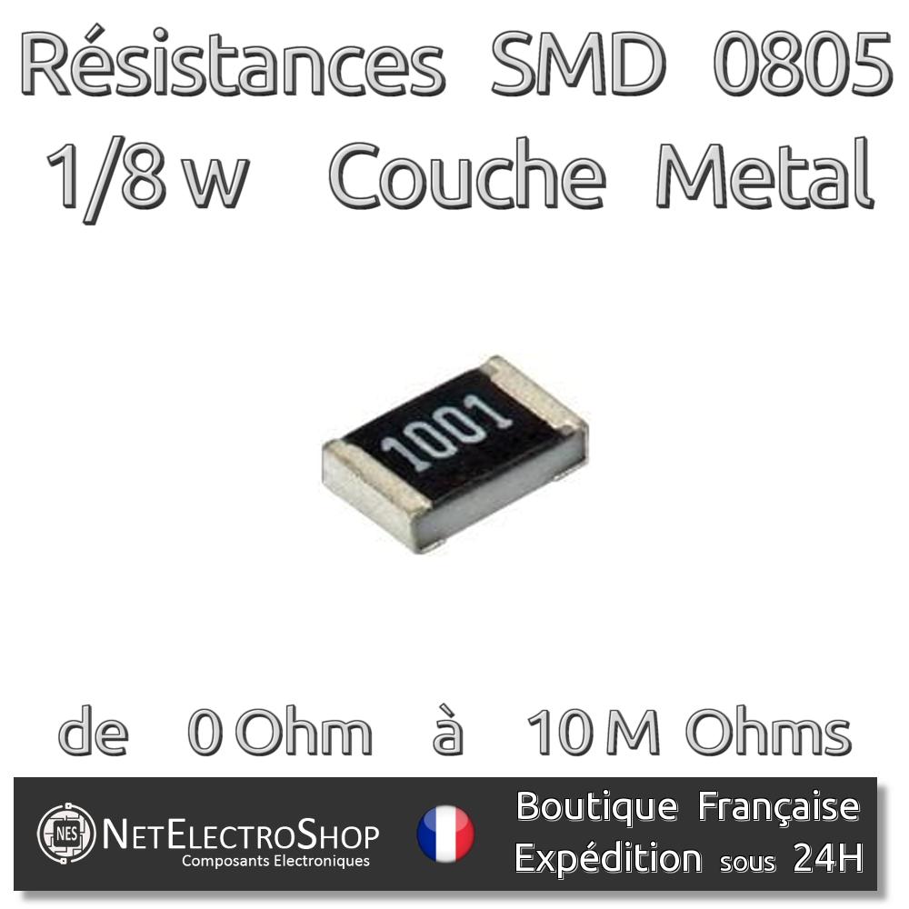 Résistances 160k Ohms Lot de 20 160kR Couche Métal 1//4W 1/% 50 ou 100pcs