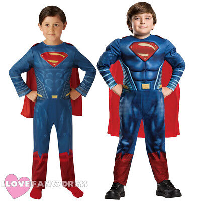 CHILD SUPERMAN COSTUME OFFICIAL LICENSED SUPERHERO BATMAN VS SUPERMAN MOVIE](Official Superhero Costumes)