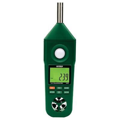 Extech Enviromental Meter 5-in-1 Air Speed Light Temp Sound Humidity En300