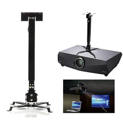 Projector Mount Universal Ceiling Bracket LCD DLP Tilt 360° Swivel 66lbs Black