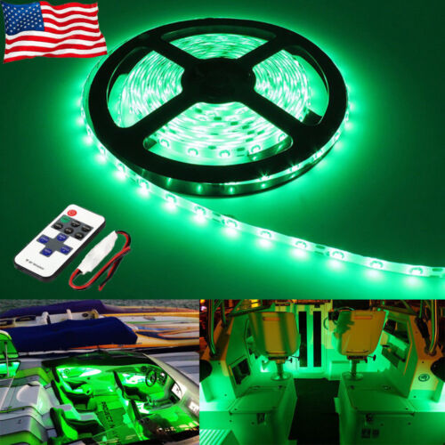 8Pcs Green Waterproof Yacht Interior LED Lights For Boat Accent Kit Bright Strip