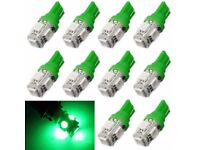 10pcs T10 5-SMD 5050 Xenon LED Light bulbs 192 168 194 W5W 2825 158