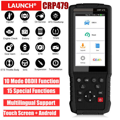 LAUNCH CRP479 OBD2 Diagnostic Scanner DPF EPB ABS Bleed Injector TPMS IMMO