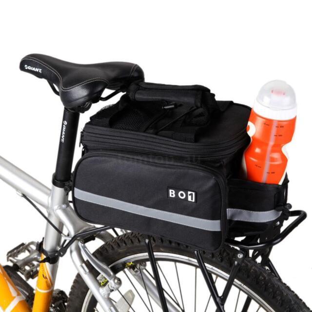 New Waterproof Cycling Bicycle Bike Rear Seat trunk Bag Handbag Pannier Black WW
