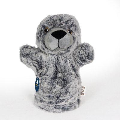 Handpuppe Seehund, Stofftier, Kuscheltier, Plüschtier, Robbe (Höhe ca. 20cm) (Robbe Puppe)
