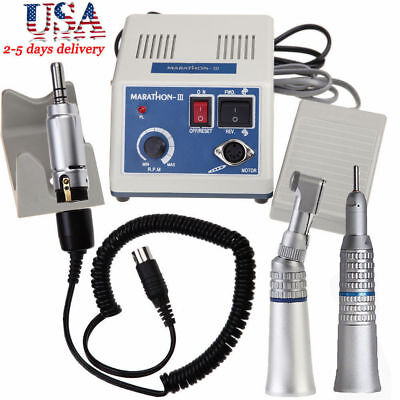 Dental Lab Marathon Electric Micro Motor N3 Contra Angle Straight Handpiece Ma