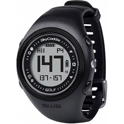 NEW SkyGolf SkyCaddie SW2 WATCH Golf GPS Range Finder Black