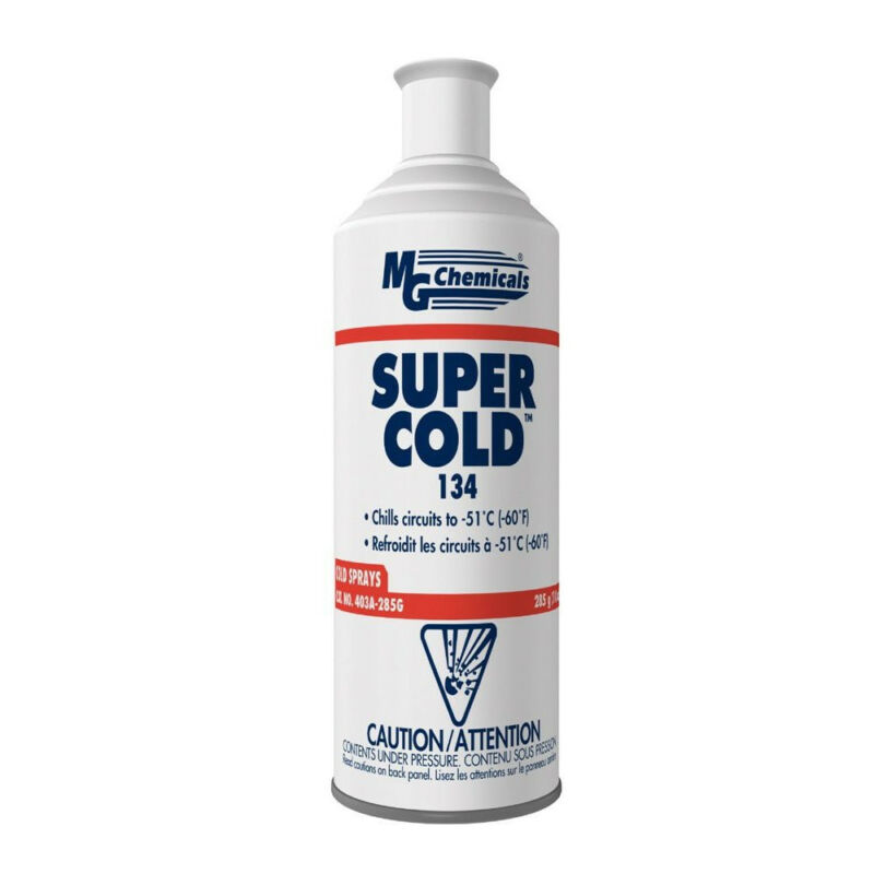 MG Chemicals 403A-285G 134A Super Cold Spray 285g (10 Oz) Aerosol Can NEW!!!