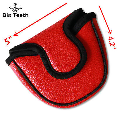 (Big Teeth Golf Mallet Putter Cover Headcover Magnetic 5