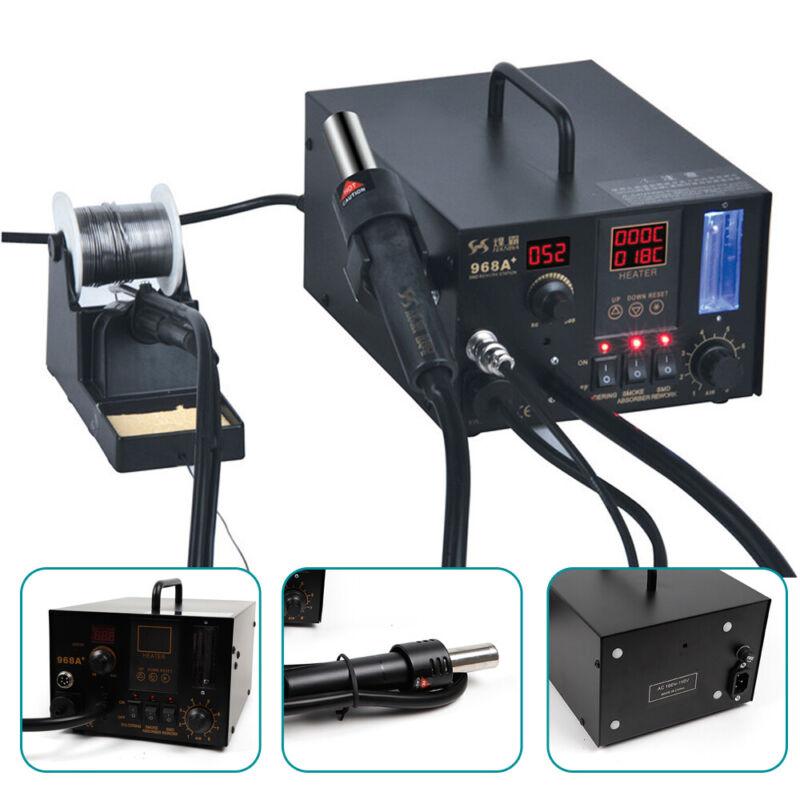 4 in 1 110V 968A+ SMD Soldering Iron Hot Air Rework Station Digital Display