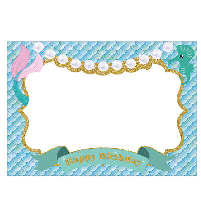 Mermaid Photo Booth Prop Frame Kids Happy Birthday Party Baby Shower supplies](Kids Photo Booth)