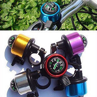 Colorful Bicycle Safety Bicycle Bike Ring Alarm Bell Compass USA Free Shipping