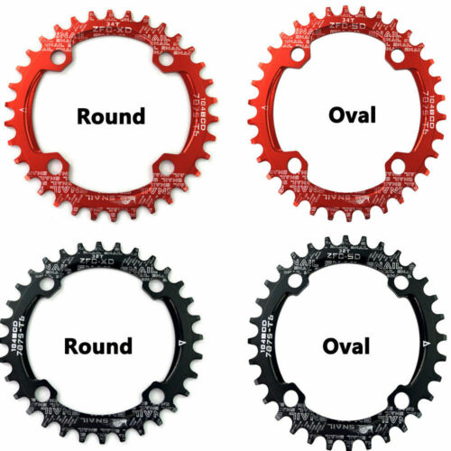 Round Oval 104BCD Chainring Mountain MTB bike 32T 38T plate Part Wide Chain Ring